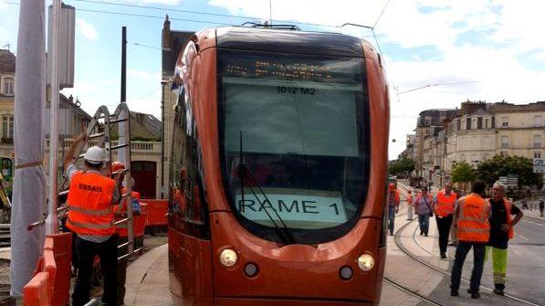 Essai du tramway sur la future ligne 2 du Mans