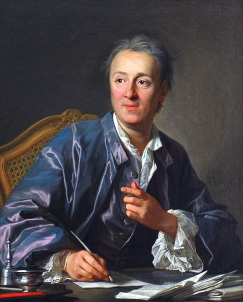 Portrait of Denis Diderot (en 1767) par Louis-Michel Van Loo