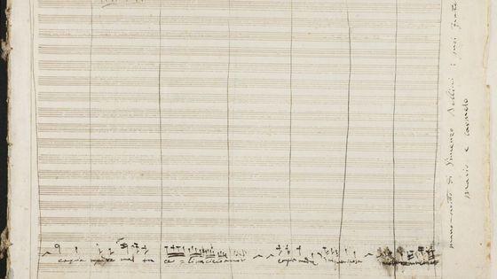 Vicenzo Bellini, manuscrit découvert à la Bibliothèque Nationale d'Espagne