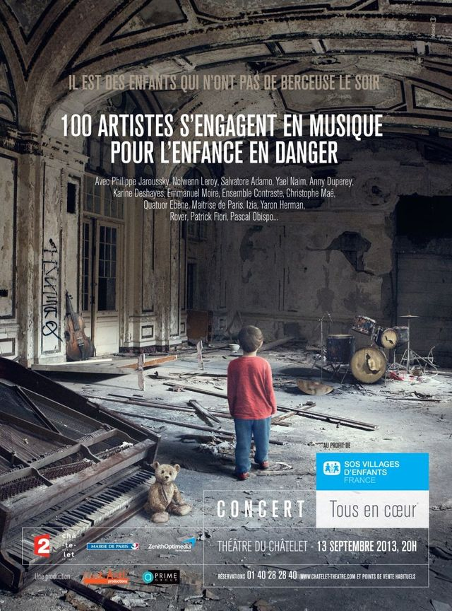 """""""Tous en coeur"""" au profit de SOS Villages d'Enfants France"""