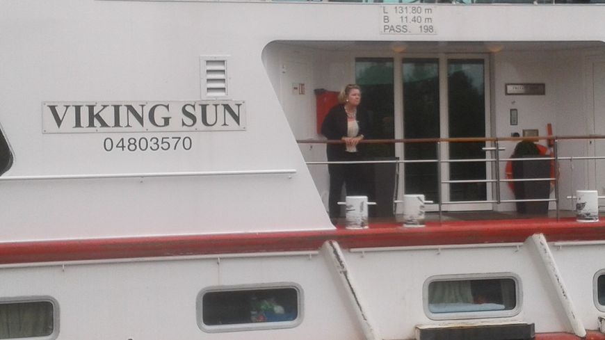 Passager sur le pont du navire accidenté à Gerstheim