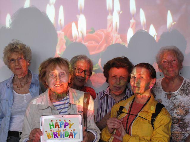 Photo de fin séance, en groupe. Avec de gauce à droite : Nicole, Pierrette, Josiane, Marie, Evelyne et Thérèse
