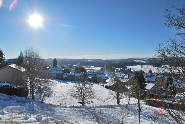 Saint Agrève (Ardèche) en hiver