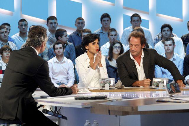 RACHIDA DATI INVITEE DE MICHEL DENISOT ICI AUX COTES DE L' ACTEUR VINCENT LINDON