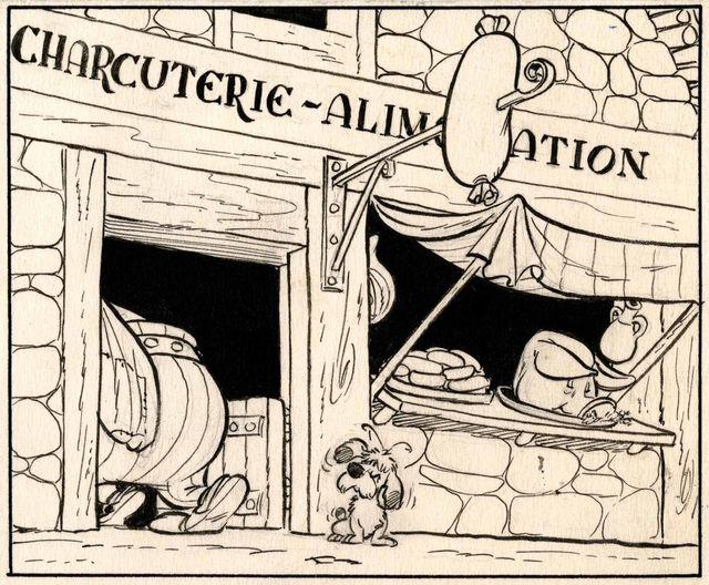 Le Tour de Gaule d'Astérix, planche 9 Texte : René Goscinny. Dessin : Albert Uderzo Planche originale, 1963 Collection A. Uderzo