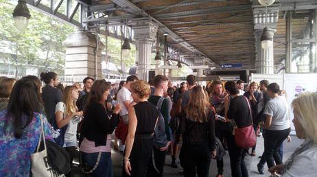Lunch beat à Paris dans le métro