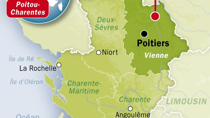 Carte de localisation de Châtellerault (Vienne)