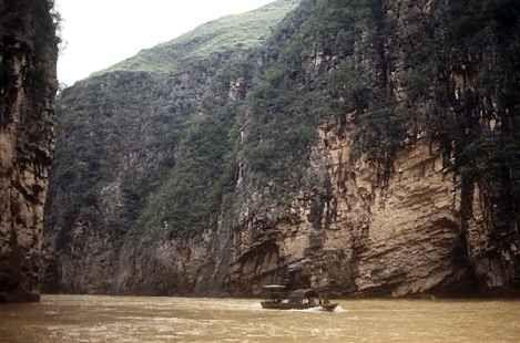Les eaux du long fleuve chinois