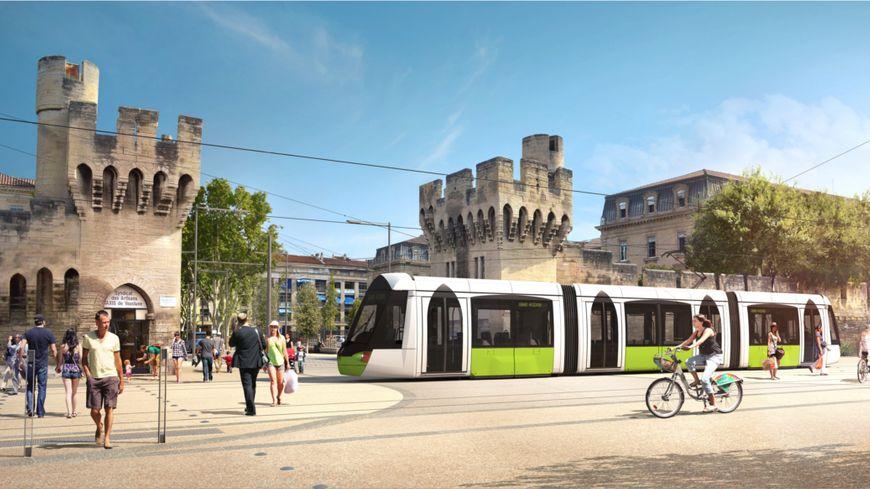 Projet d'habillage pour le tramway d'Avignon 01