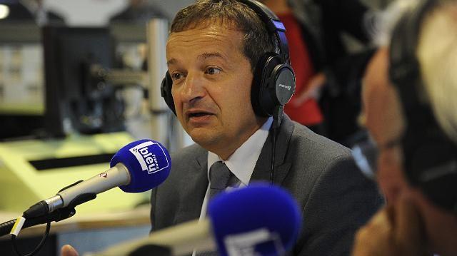 Maurice Vincent lors de l'inauguration de France Bleu Saint-Etienne Loire, lundi
