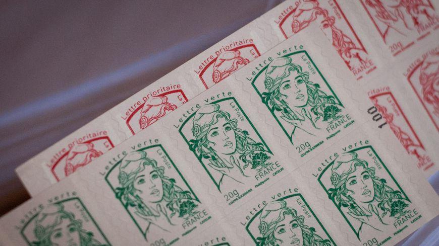 Des planches de timbres