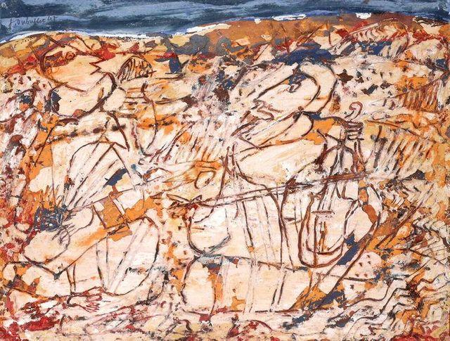 Musiciens au désert par Jean Dubuffet