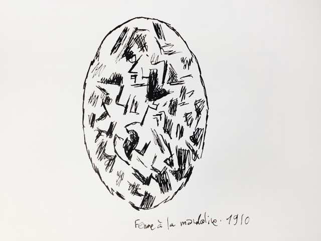 """""""Femme à la mandoline"""" par Georges Braque, revu par Joann Sfar"""