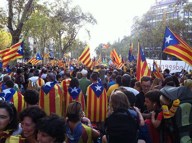 Manifestation indépendantiste à la fête nationale de la Catalogne en 2012