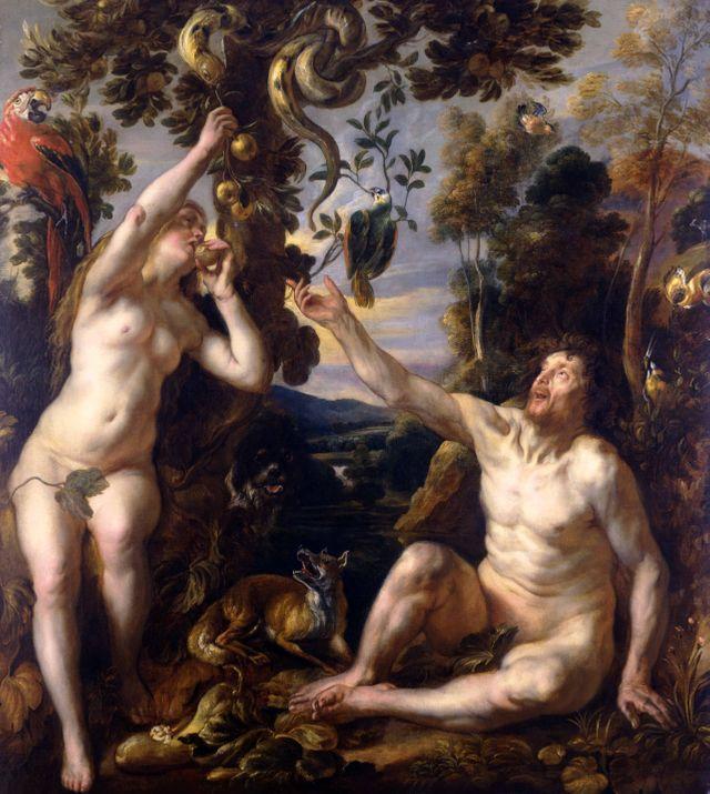Adam et Eve (La Chute de l'Homme), vers 1640 Huile sur toile