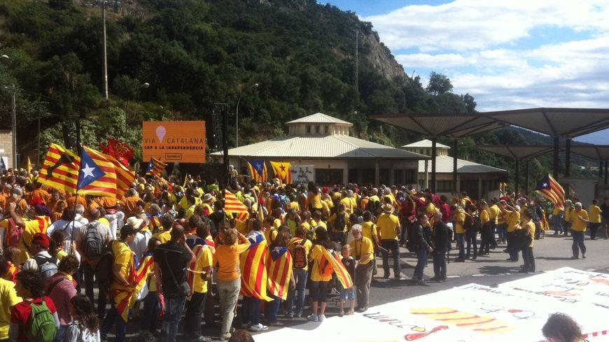 Les indépendantistes catalans mobilisés au Perthus