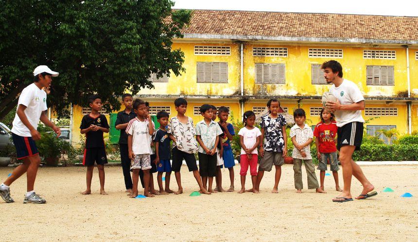 Un après-midi rugby à Phnom Penh