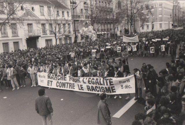 Le défilé de la Marche pour l'Egalité et contre le Racisme - 25 février 1983