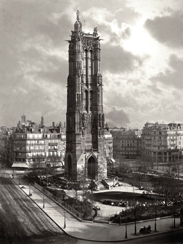 La Tour St-Jacques à Paris vers 1867