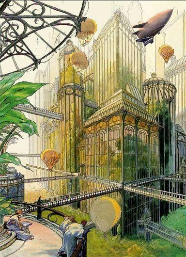 La ville futuriste et archiborescente de Calvani