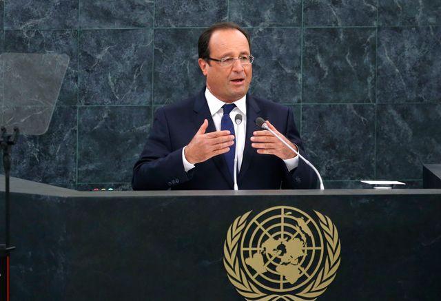 Hollande à la tribune de l'Onu