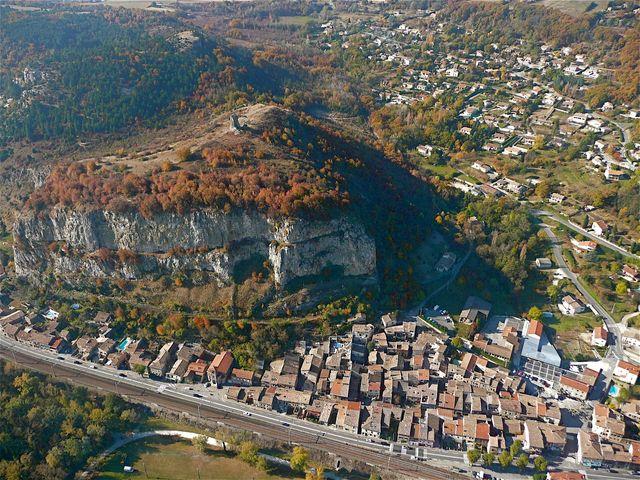 Soyons (Ardèche) - vue aérienne