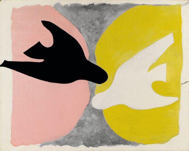 Braque  - L'oiseau Noir et Balnc