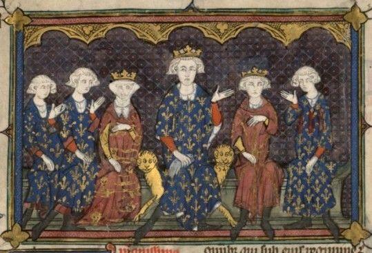 Philippe IV le Bel et sa famille - Miniature anonyme du XIVème siècle