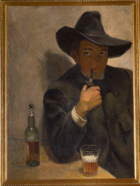 Autorretrato con Chambergo - 1907