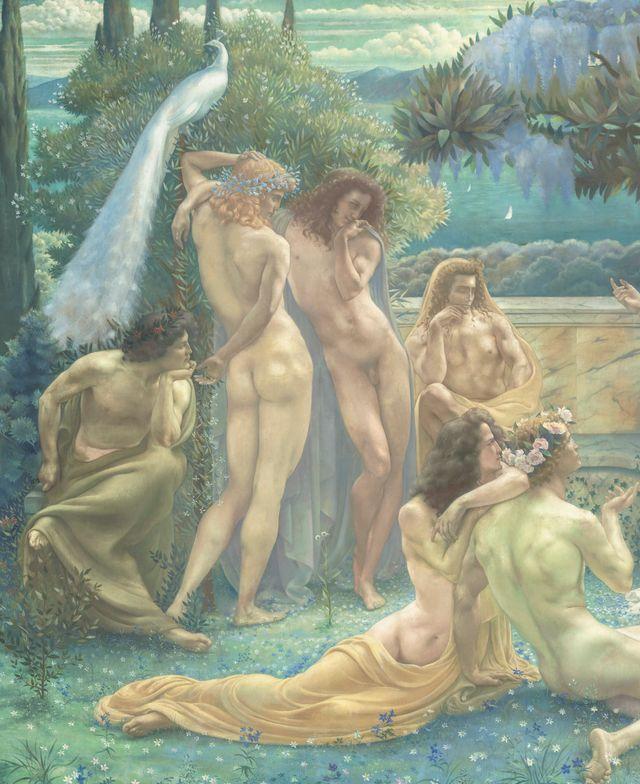 Jean Delville L'Ecole de Platon (détail), 1900 Huile sur toile, 260 x 605 cm Paris