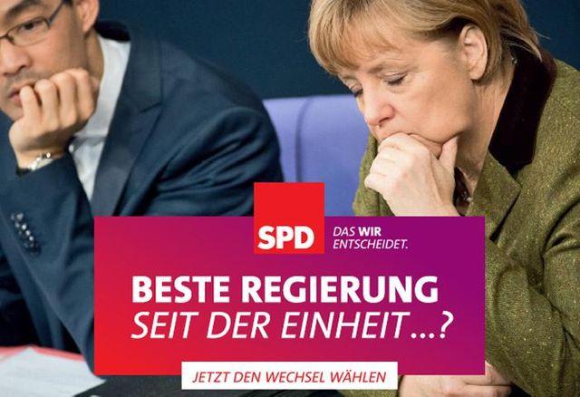 Affiche électorale Allemagne