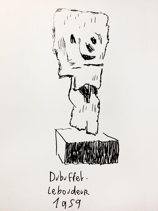 Le boudeur de Dubuffet, revu par Joann Sfar