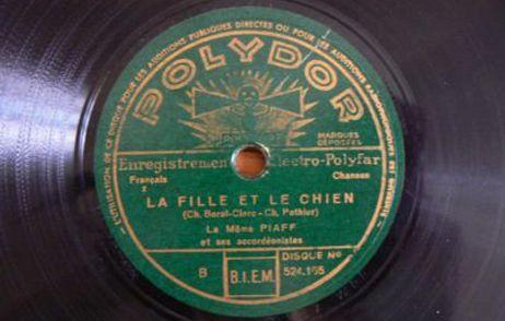 78 tours d'Edith Piaf