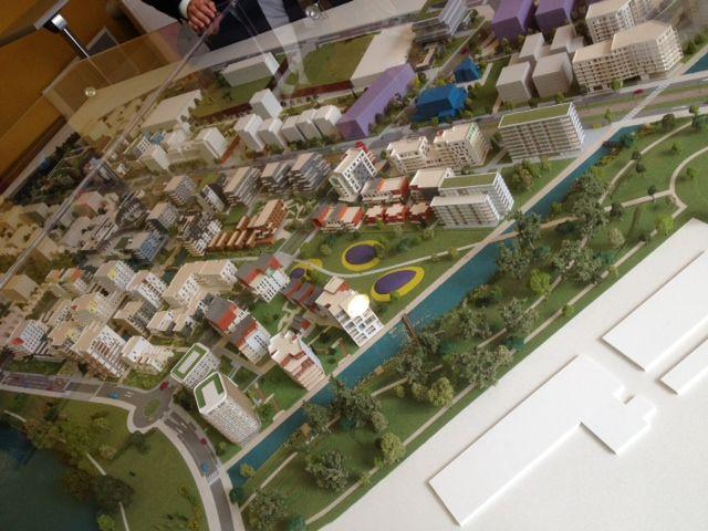 Maquette de Ginko, le nouveau quartier de Bordeaux