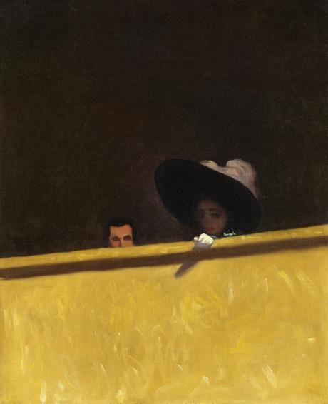 Guy Cogeval-Félix Vallotton, La Loge de théâtre, le Monsieur et la Dame, 1909 Collection particulière