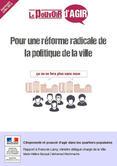 Citoyenneté et pouvoir d'agir dans les quartiers populaires - Rapport