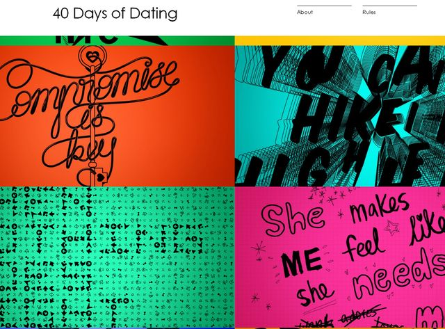 "Capture d'écran du site ""40 days of dating"""