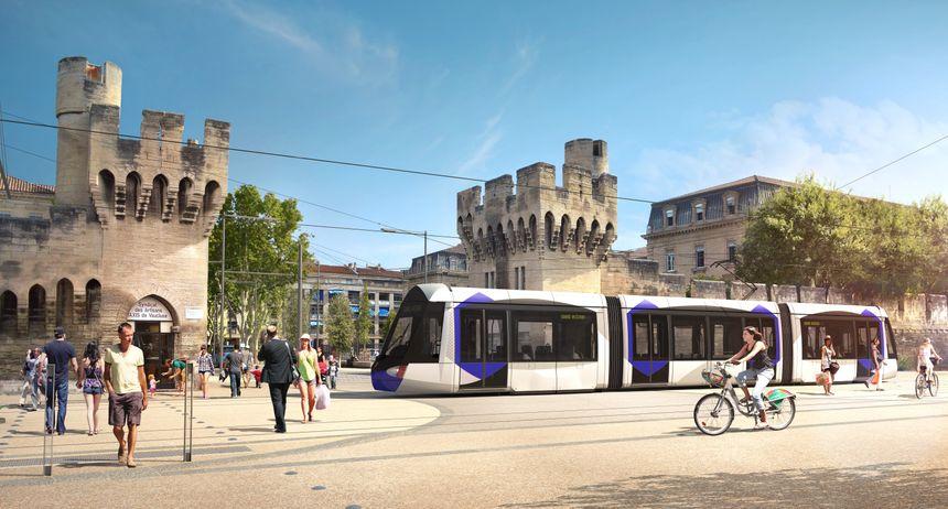 Projet d'habillage pour le tramway d'Avignon 02