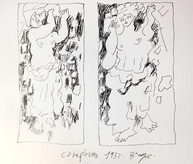 """""""Canéphores"""" de Georges Braque, revu par Joann Sfar"""