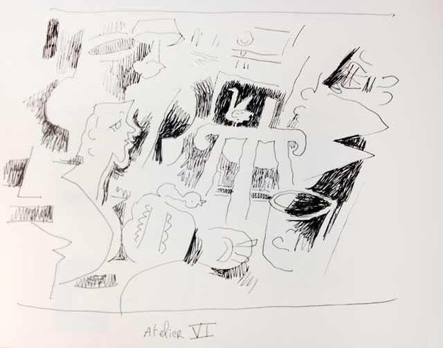 """""""Atelier VI"""" de Georges Braque, revu par Joann Sfar"""