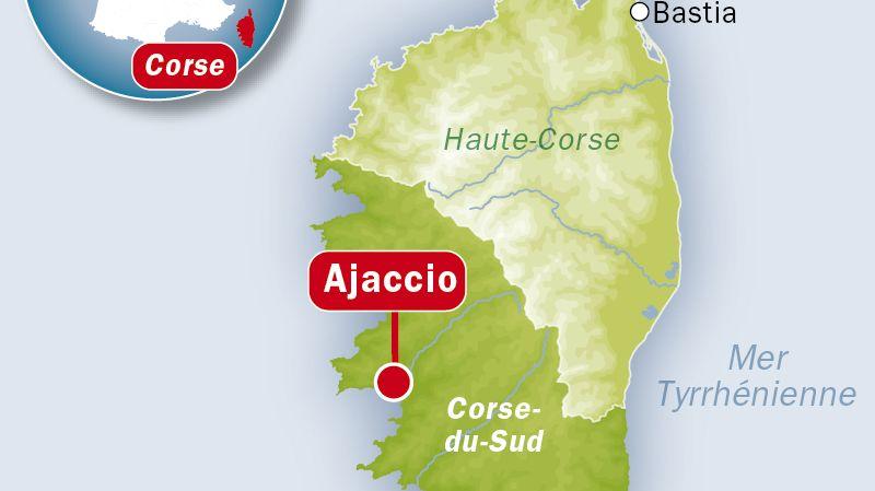 Carte de localisation d'Ajaccio