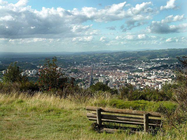 Saint-Étienne (Loire, France) vue depuis Le Guizay
