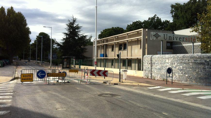 Rupture de canalisation avenue Paul Alduy, à Perpignan