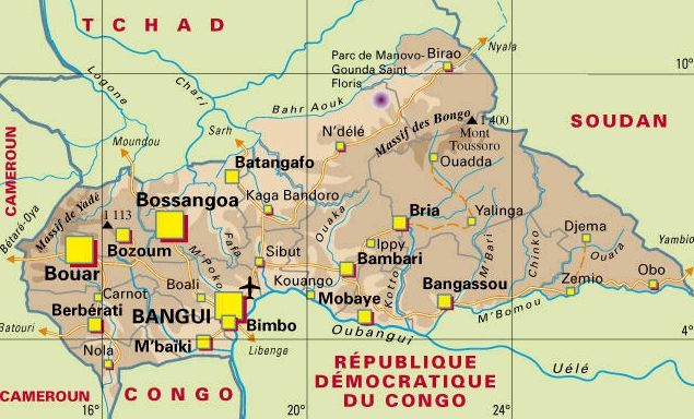 Carte Centrafrique