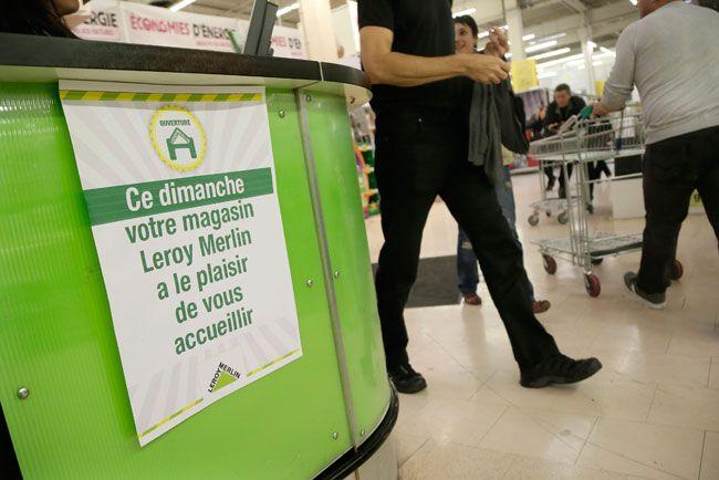 Les magasins Leroy-Merlin ont ouvert sans autorisation le dimanche 29 septembre. Ici à Gennevilliers.