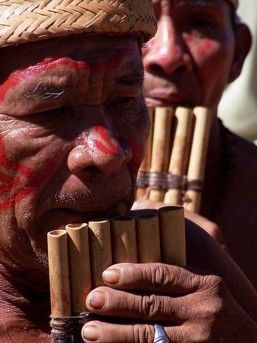 Chaman d'une tribu indigène autochtone de l'Amazonie, Venezuela.