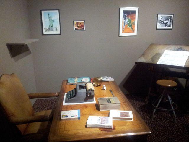 Le bureau de René Goscinny dans l'exposition à la BnF