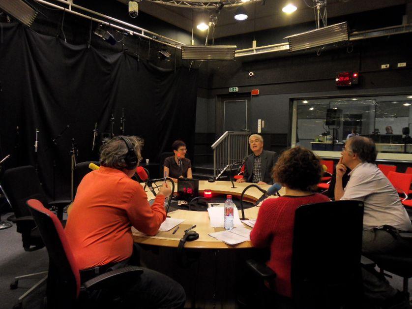 Anne-Sophie Leterrier et Philippe Darriulat au studio 108