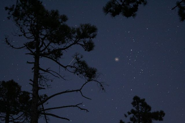 Ciel étoilé (l'étoile la plus brillante est Persée)