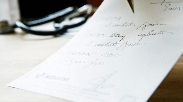 Une ordonnance dans un cabinet médical (illustration).